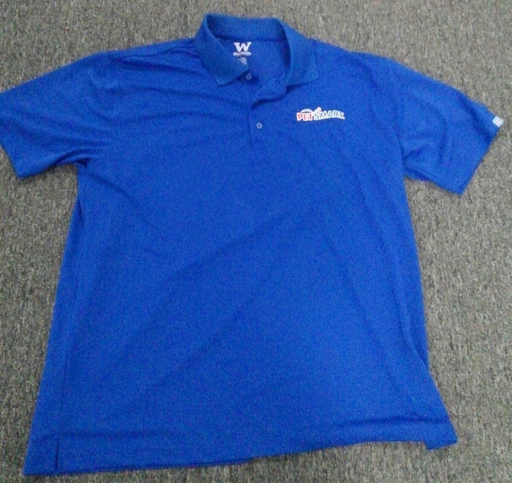 Petsmart Pet Supply Employee Work Uniform Blue Polo Shirt Men S Size Large L Fashion Clothing Shoes Accesso Blue Polo Shirts Mens Polo Shirts Work Uniforms