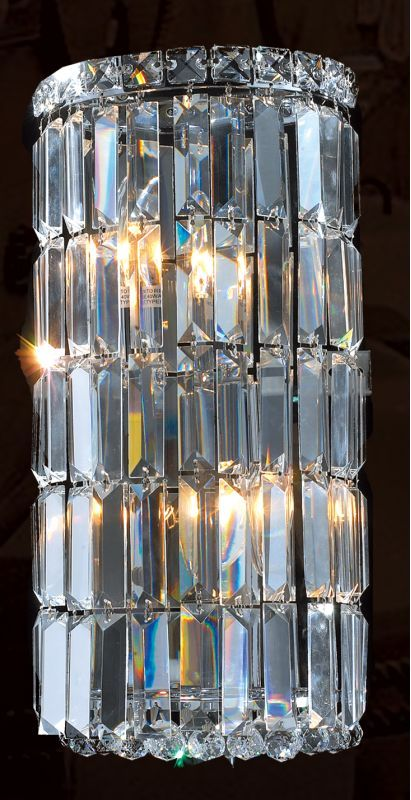 Worldwide Lighting W23511c8 Cascade 2 Light 8 Ada Wall Sconce In Chrome With Cl Chrome Indoor Lighting Wall Sconces Wall Sconces Wall Sconce Lighting Sconces