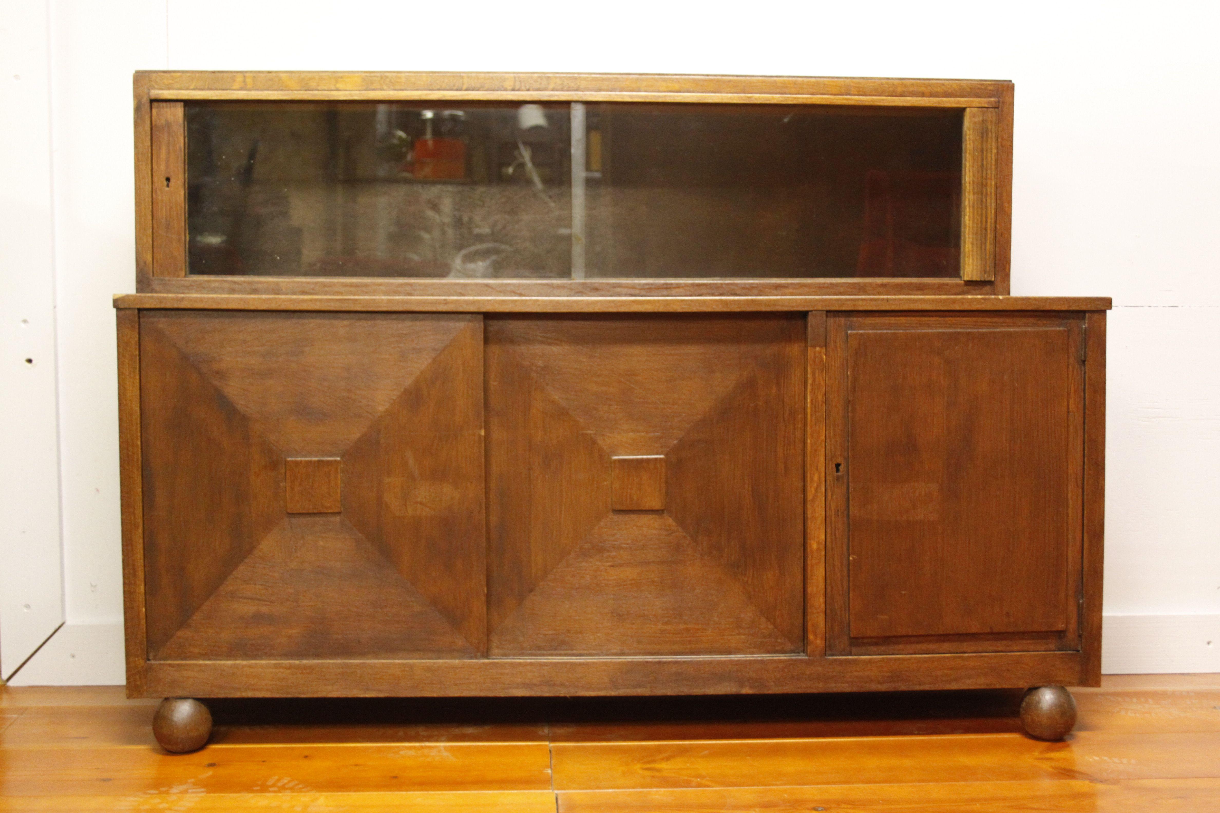 Art Deco Stijl : Eiken vergadertafel voor een kleine vergaderruimte in art deco stijl