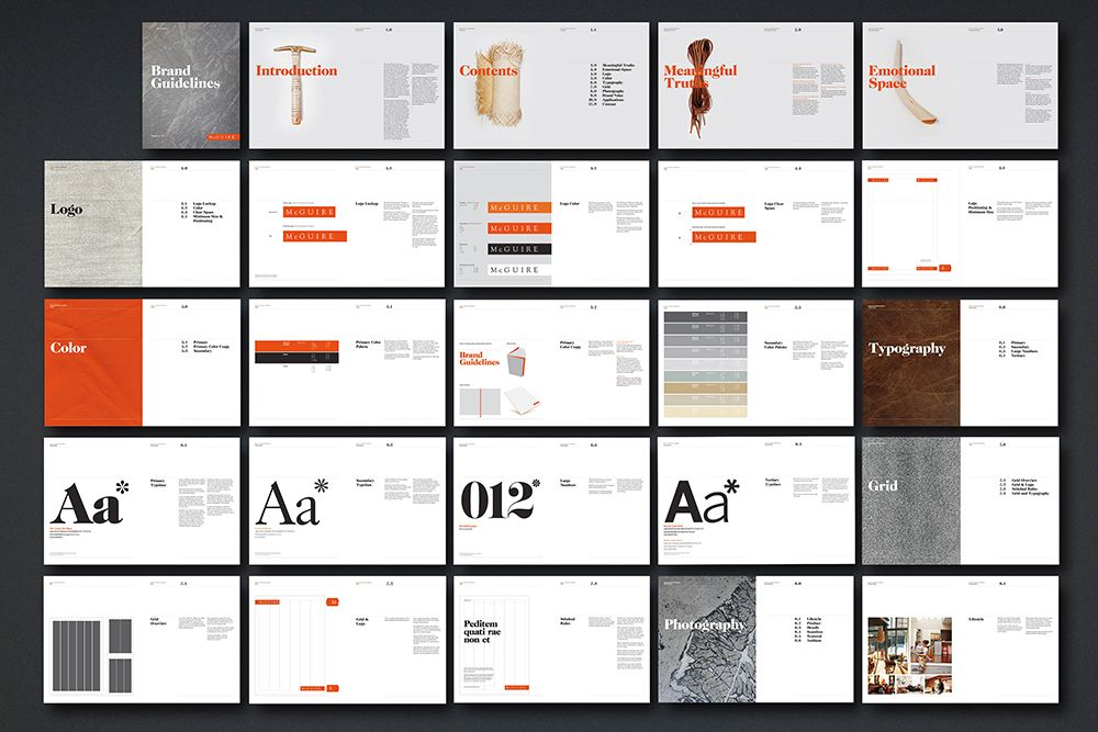 Furniture Design Guidelines mcguire ← emotive brand #mcguire #design #branding #orange