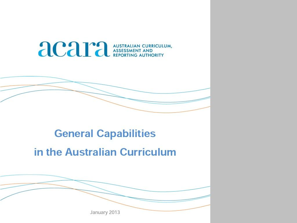 General Capabilities Document Australian Curriculum