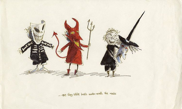 The Nightmare Before Christmas Concept Art Of Lock Shock
