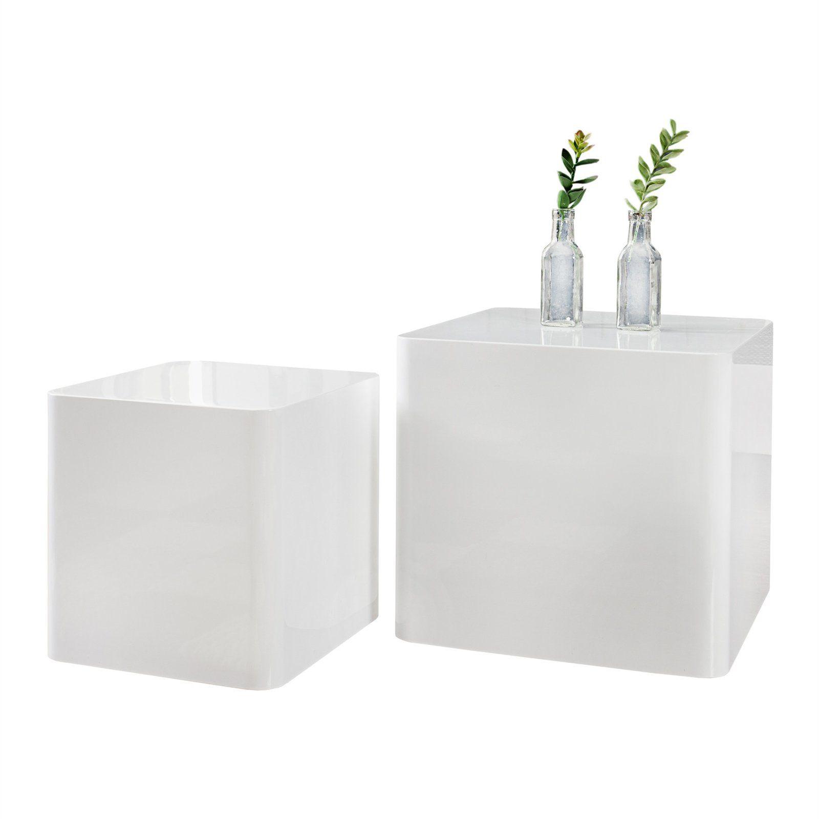 Design Delights Modernes Beistelltisch Set Loft 2er Set Weia Hochglanz Couchtisch W Rfel In 2020 Decor Home Decor Facial Tissue Holder