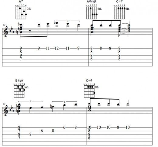 Complete Guitar Lesson Of The Jazz Standard Misty Song Chord Chart