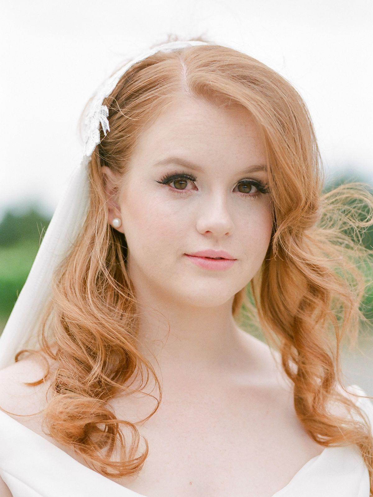 bridal portrait   bridal makeup   long bridal hair style