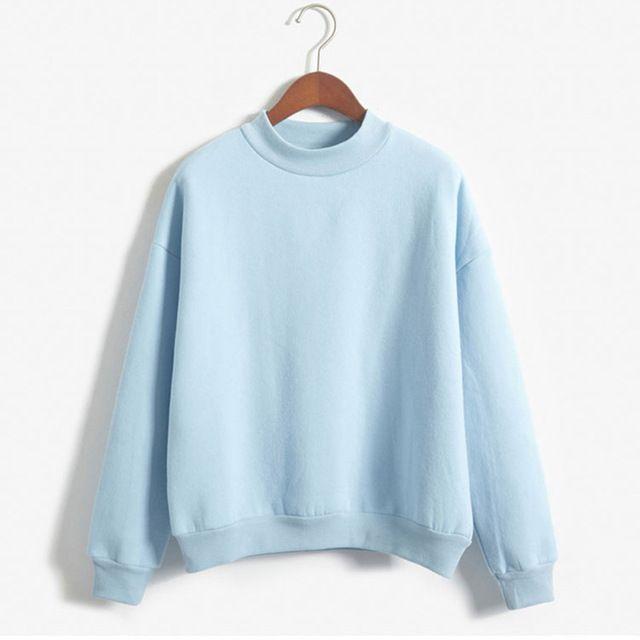 Women Long Sleeve Hoodies Loose Women Sweatshirt Pullover Solid Color Coat Jacket Outwear Tops