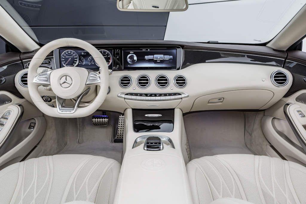 The new Mercedes Benz S 65 AMG Cabrio interieur Leder porzellan