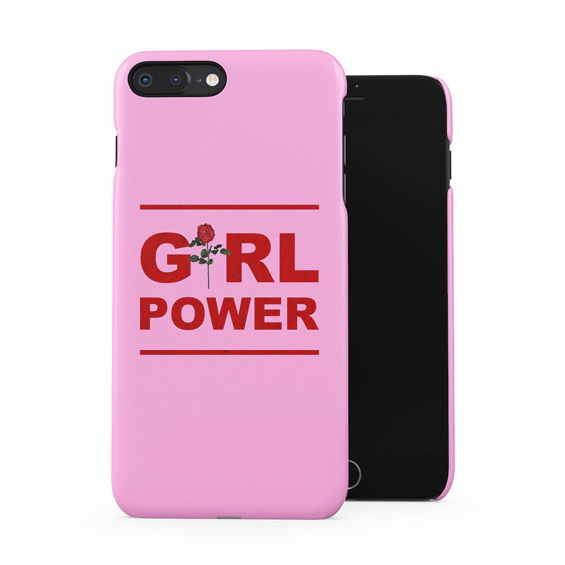 648e2838d6 Pink Girl Crew Power Red Rose Blossom Feminists Tumblr Plastic Phone Snap  On Back Case Cover Shell For iPhone 7 Plus & iPhone 8 Plus
