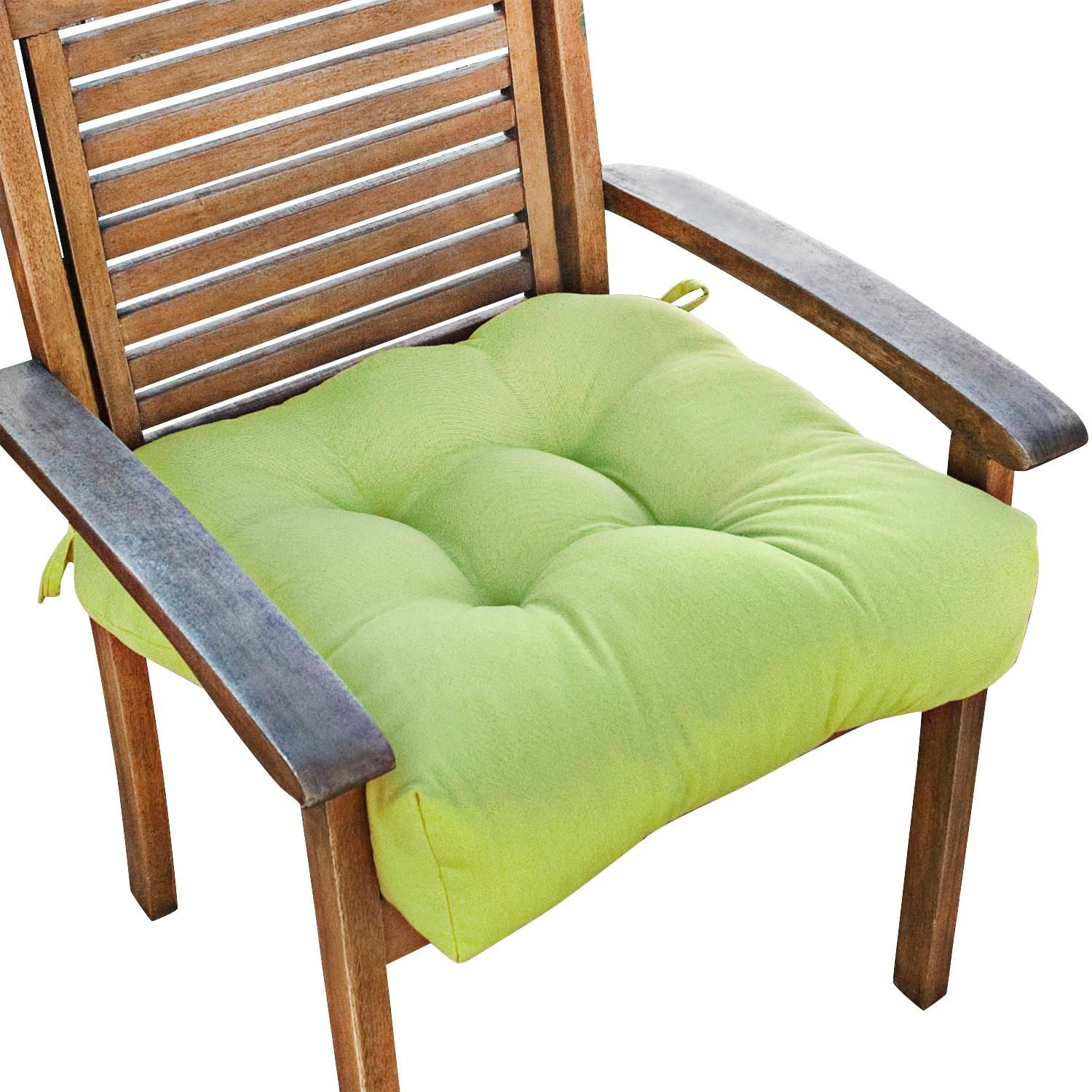 """Kiwi 8"""" Square Green Outdoor Chair Cushion - #W8  Lamps Plus"""