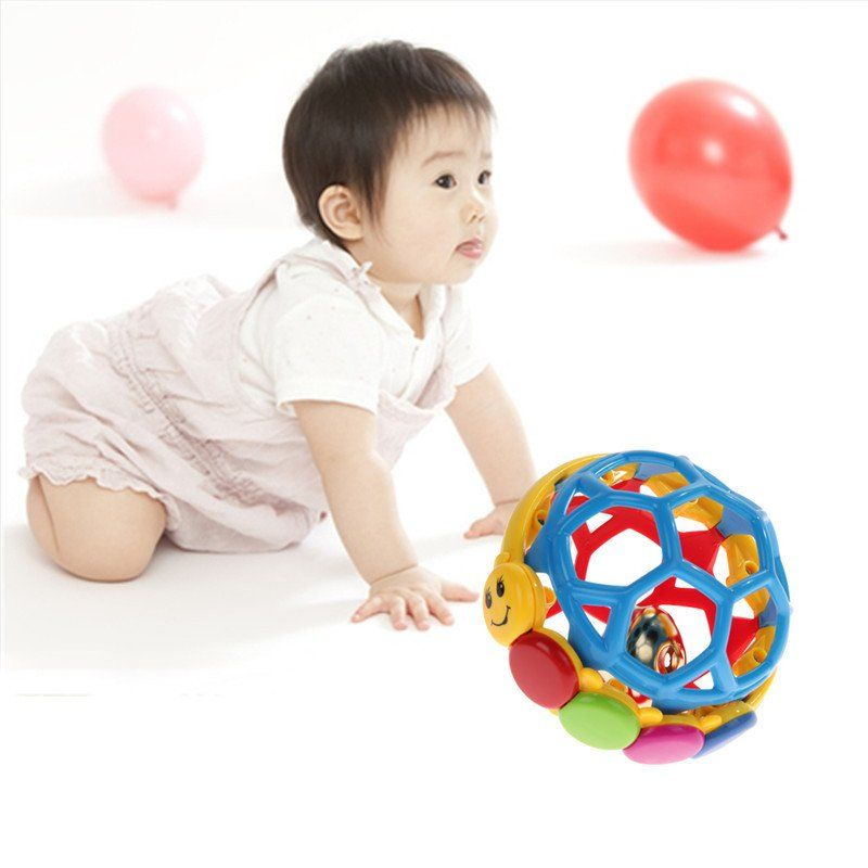 Babe Einstein Buzz Ball Bendy Baby Walker Rattles Prewalker Bouncing Ball Toddlers Fun Multicolor Activity Educational Toys