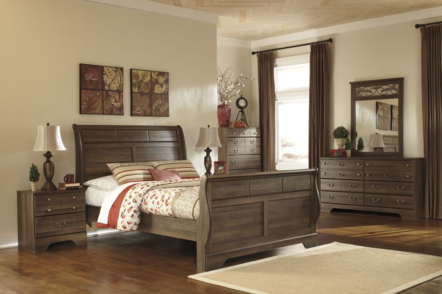 The Allymore Collection Pictured With The Sleigh Bed Available In Queen And K Bedroom Furniture Sets Ashley Bedroom Furniture Sets Ashley Furniture Bedroom