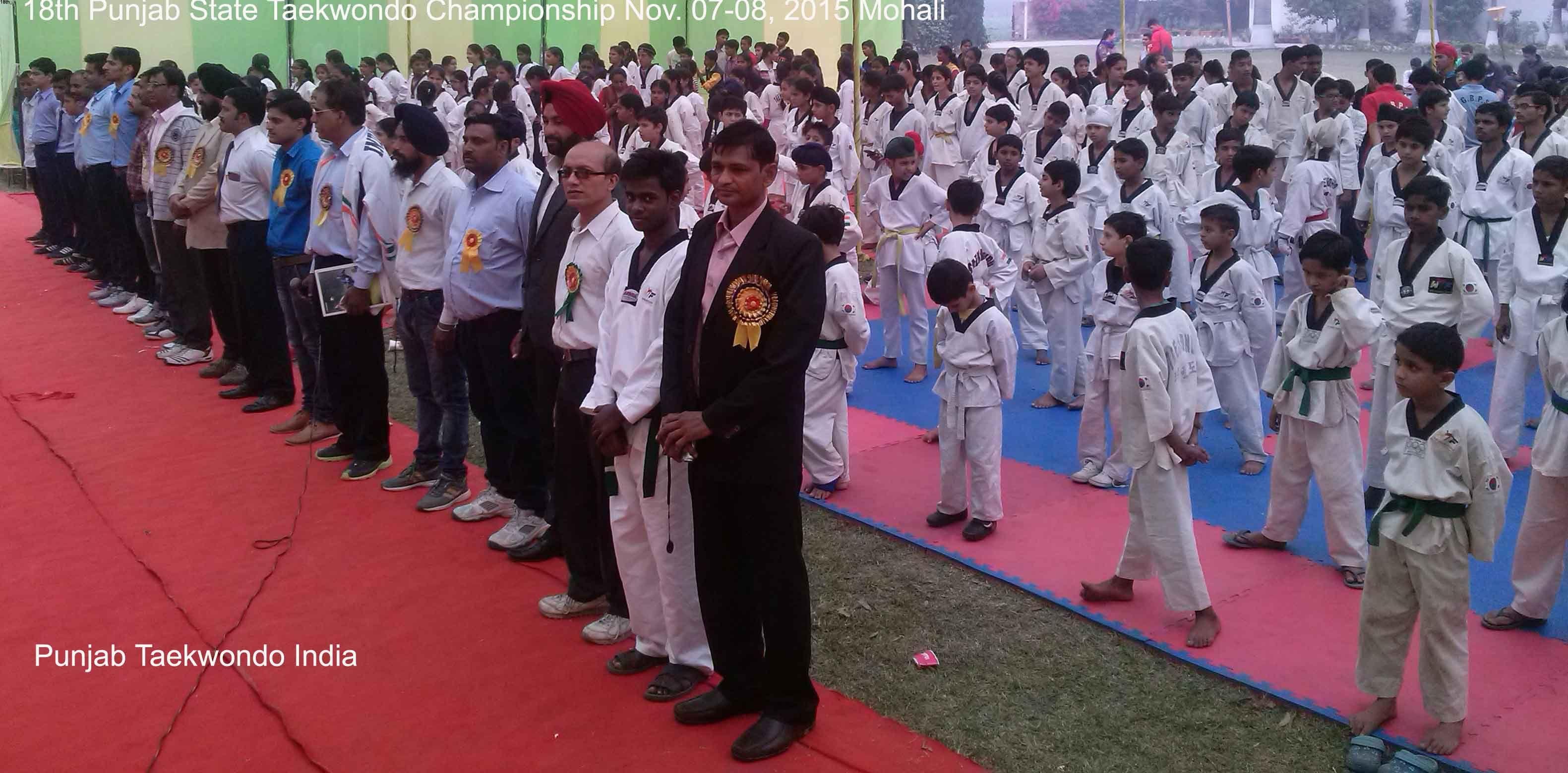 18th Punjab State Taekwondo Championship Mohali near Chanidgarh