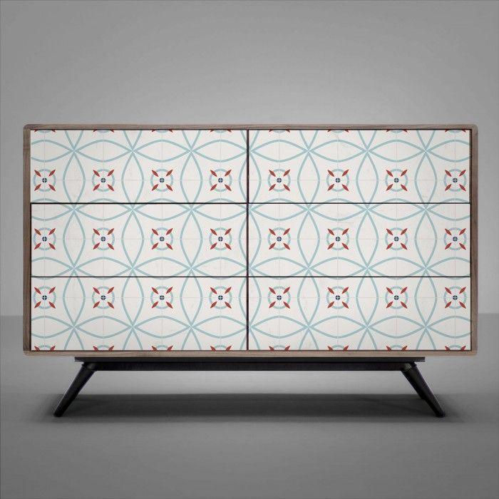 Azulejos de dise o moderno vinilo para muebles suelos y - Vinilos para azulejos ...