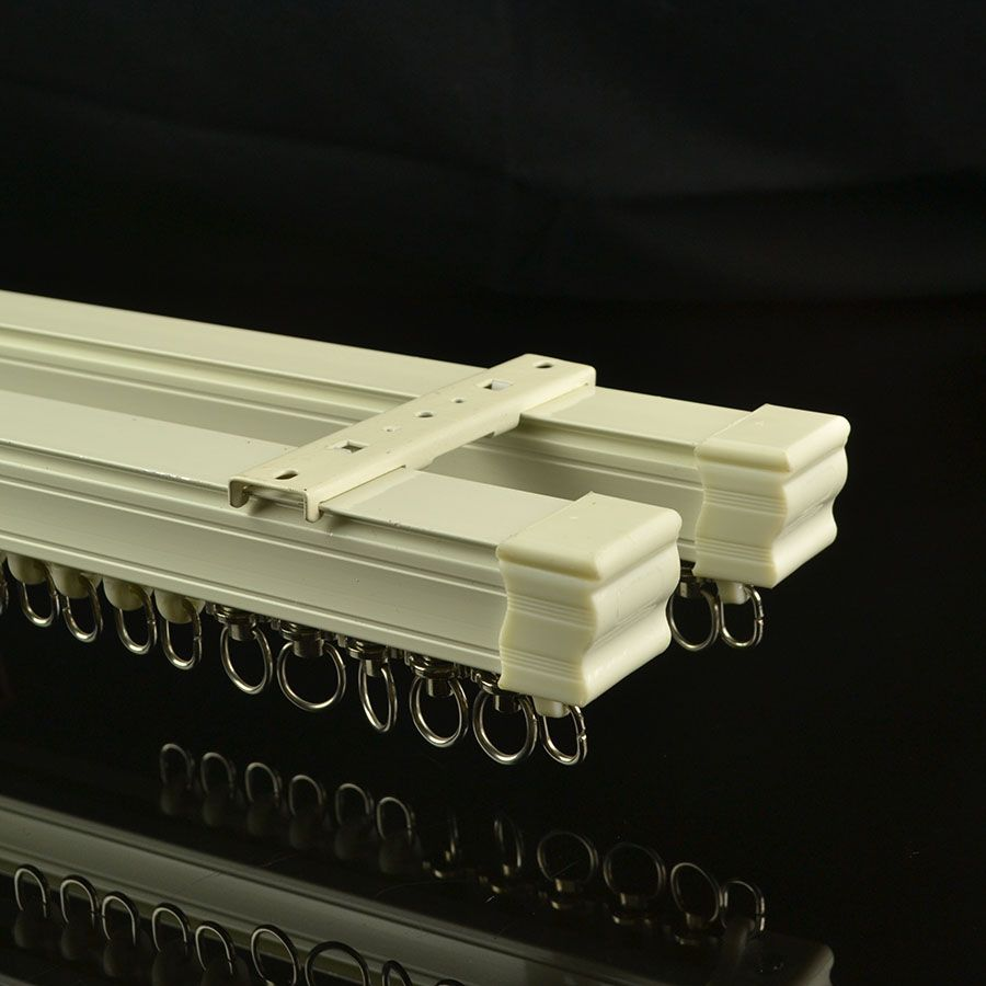CHR7922 Ivory Ceiling Mounted Double Curtain Tracks and Rails ...