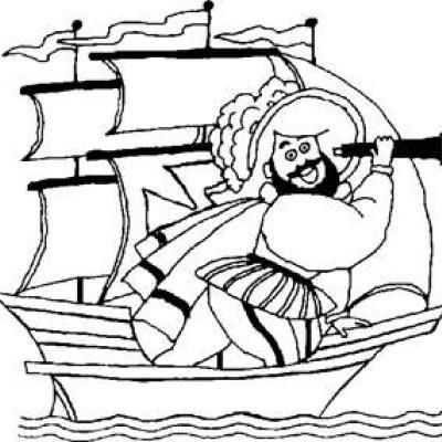 Columbus Day Coloring Pages {Printable Activities for Kids