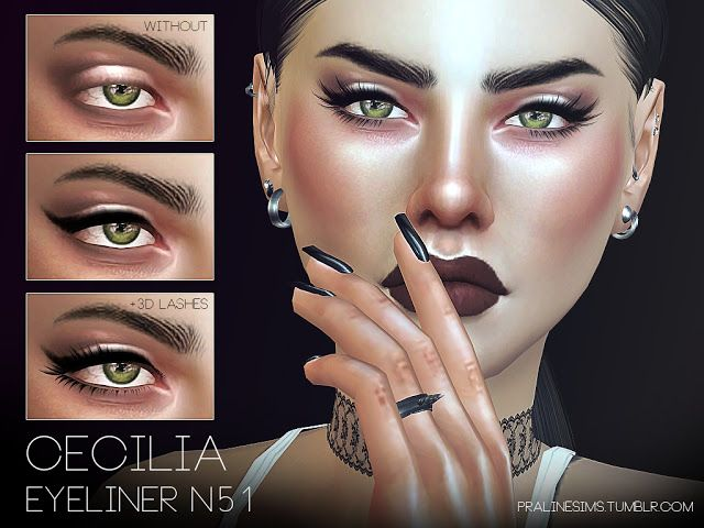 Sims 4 CC's - The Best: Simple winged liner by Pralinesims
