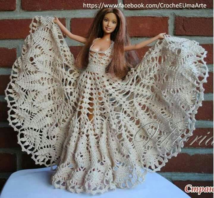 Crochet Barbie Dress Crochet Doll Clothes