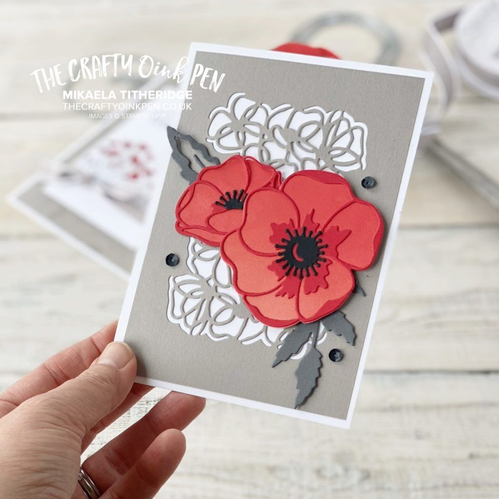 Photo of Papercrafting Class with Peaceful Poppies – The Crafty oINK Pen