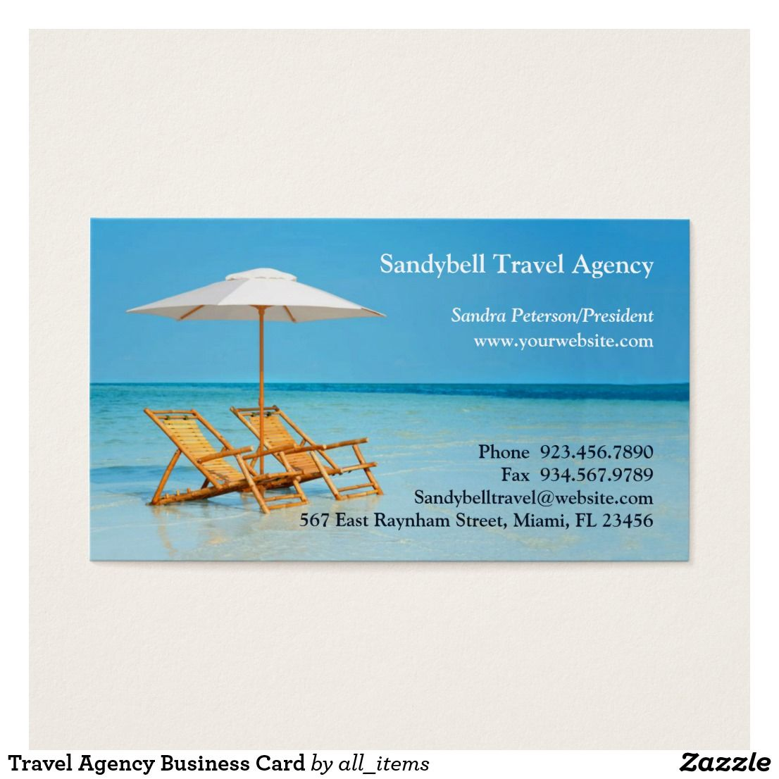 Travel Agency Business Card Business Pens Business Card Logo And