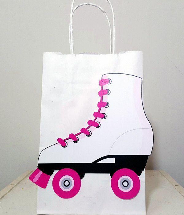 Roller Skate Goody Bags Roller Skate Favor Bags Roller Skate Etsy Roller Skating Party Roller Skate Birthday Party Roller Skate Birthday