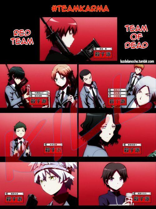 Ansatsu Kyoushitsu/Assassination Classroom, Teamkarma, Redteam, Team of Dead