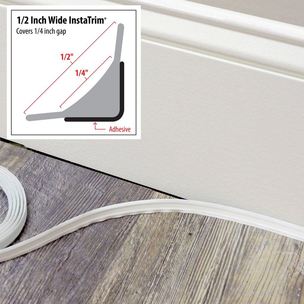 Instatrim 1 2 Inch Covers 1 4 Moldings And Trim Baseboard Trim Vinyl Floor Covering