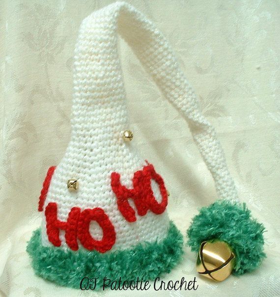 HO HO HO Hat  Sizes Newborn to Adult by QTPatootieCrochet on Etsy $20