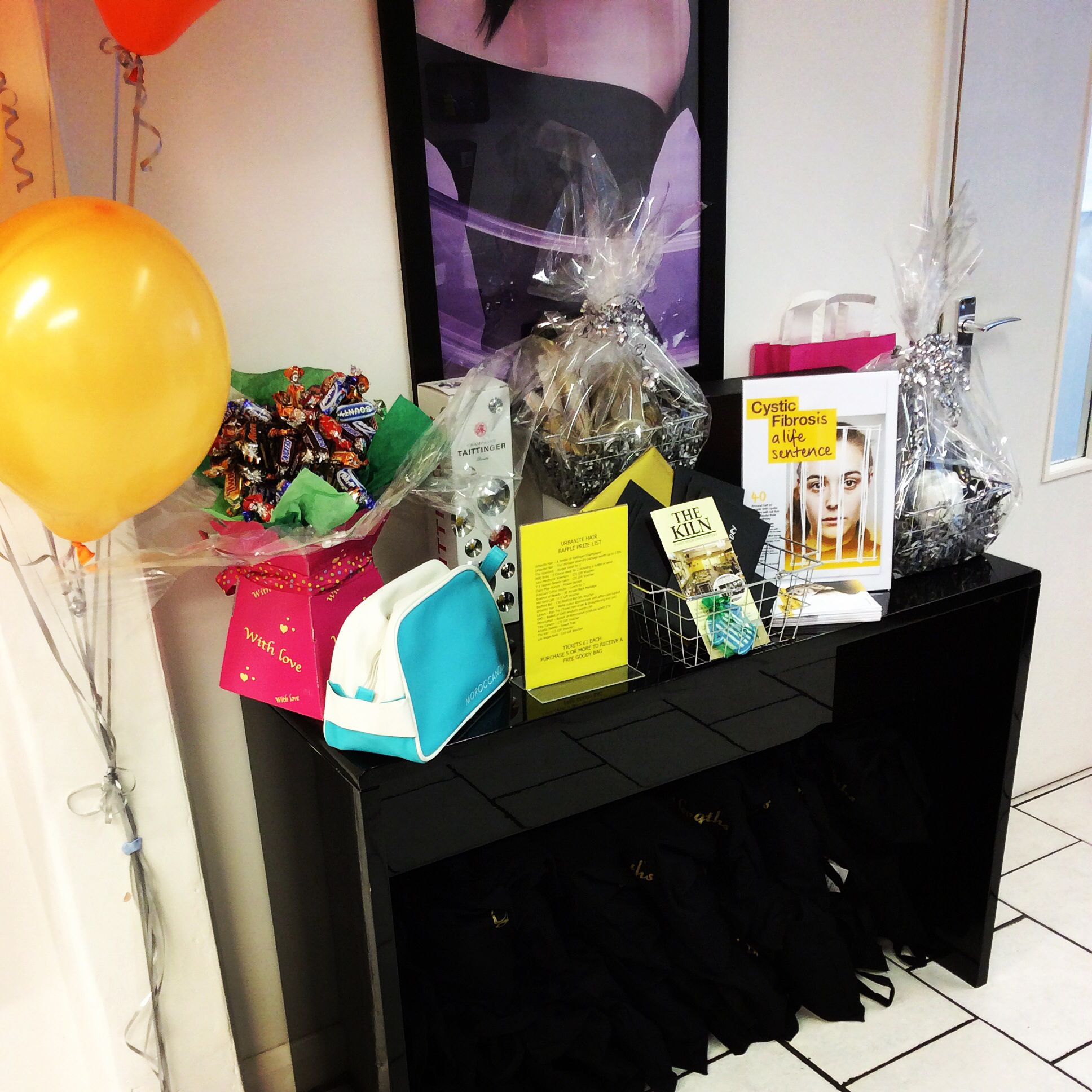 Our generous raffle prizes donated to us from local businesses in #bedford #salon #love #hairdressers #