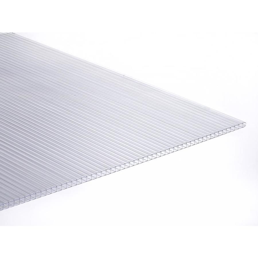 Tuftex Multi Wall 6mm Panel Clear 4 Ft X 8 Ft Corrugated Clear Polycarbonate Plastic Roof Panel Lowes Com Roof Panels Clear Roof Panels Polycarbonate Roof Panels