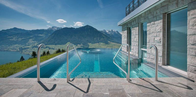 Best Hotel In Switzerland With Infinity Pool Heated Infinity Pool At Hotel Villa Honegg Offers Sweeping Views Of Swiss Alps Homecrux Hotel Villa Honegg Villa Honegg Hotel Villa Honegg Switzerland