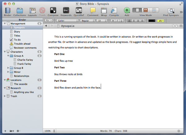 creating a story bible with a free template in tv a story bible - Scrivener Resume Template