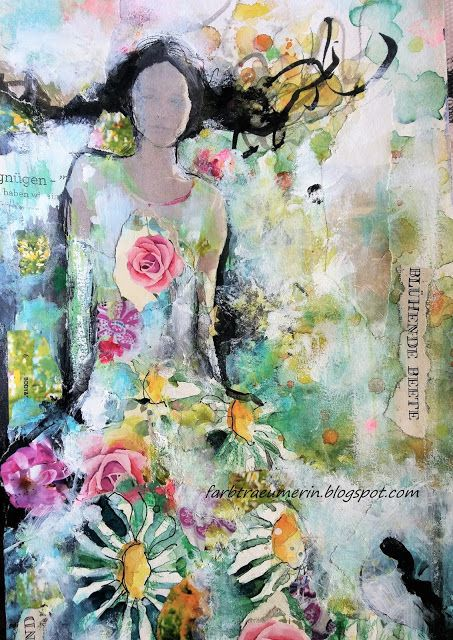 Malerei Acryl Aquarell Malerei Portratmalerei Frauenkunst
