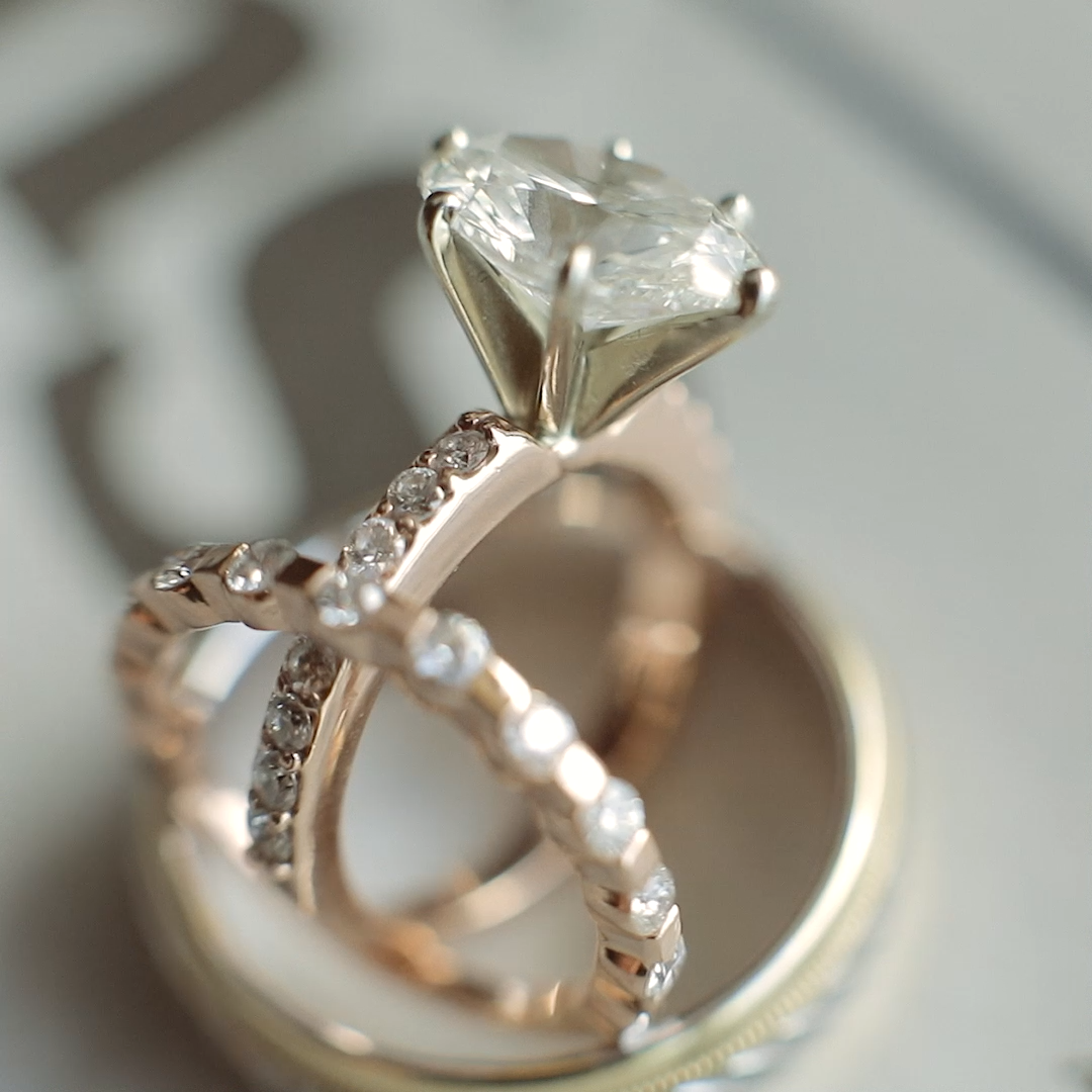 Terrific No Cost Rose Gold Engagement Ring Beautiful Ring Video From A Wedding Ideas A Rose Gold Engagement Ring Big Wedding Rings Inexpensive Wedding Rings