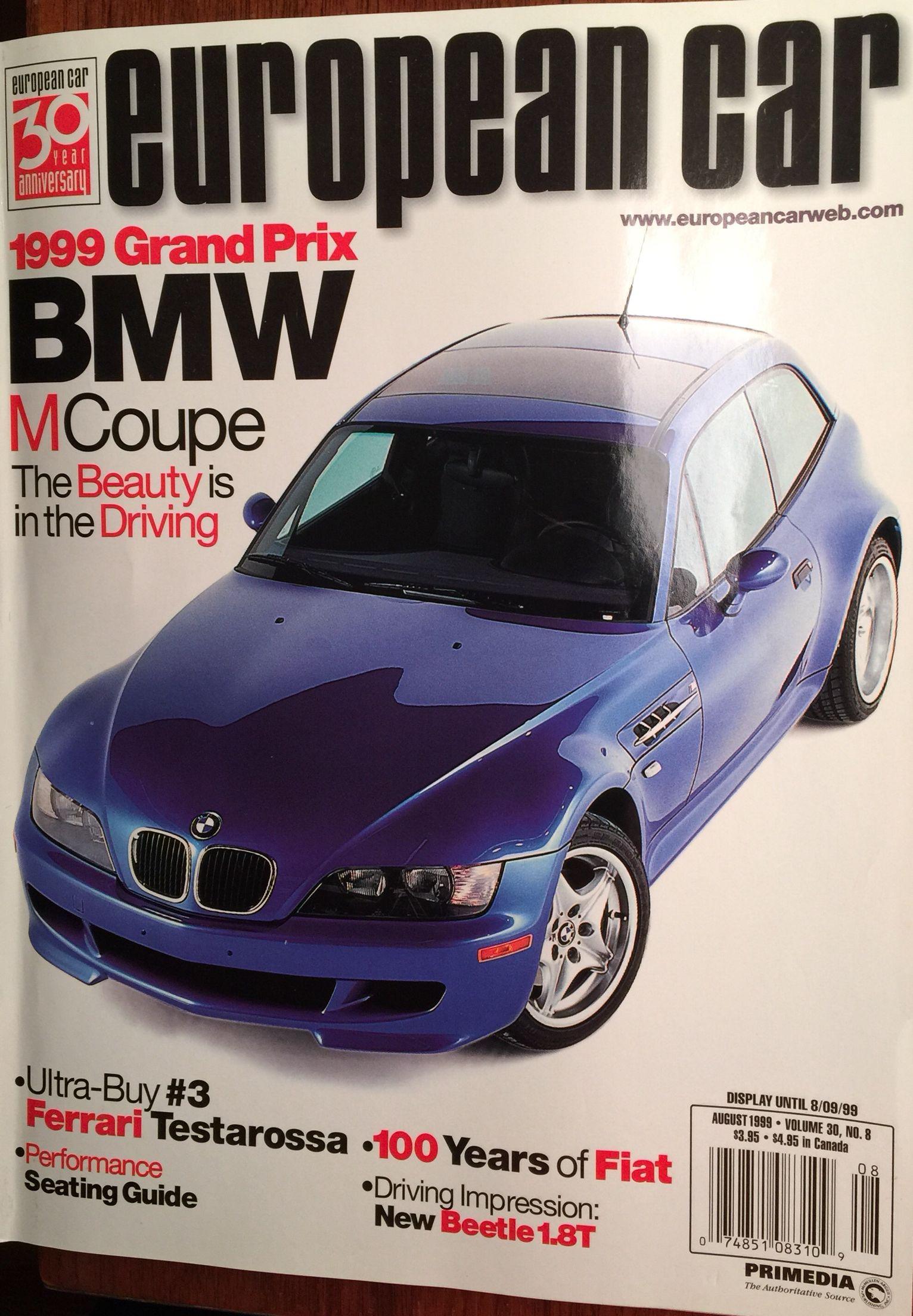 99 Cover Of European Car Magazine Featuring Their Choice For Car Of