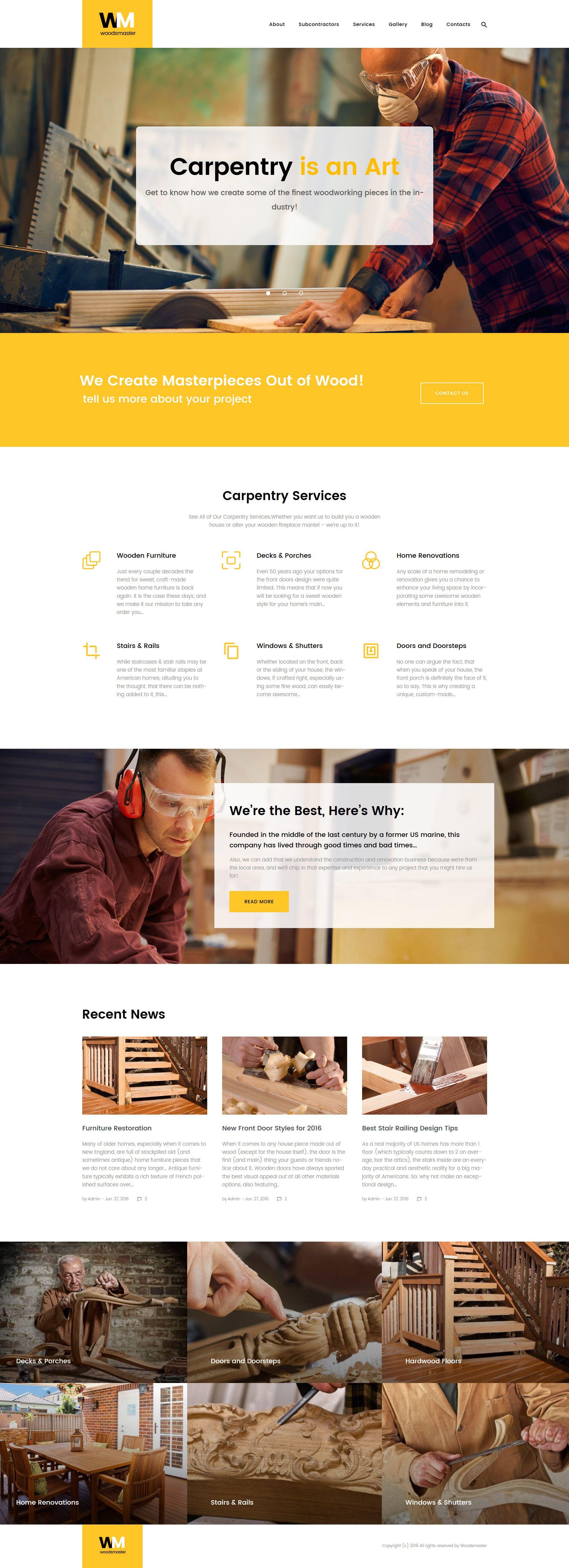 Woodsmaster Carpenter & Handyman WordPress Theme