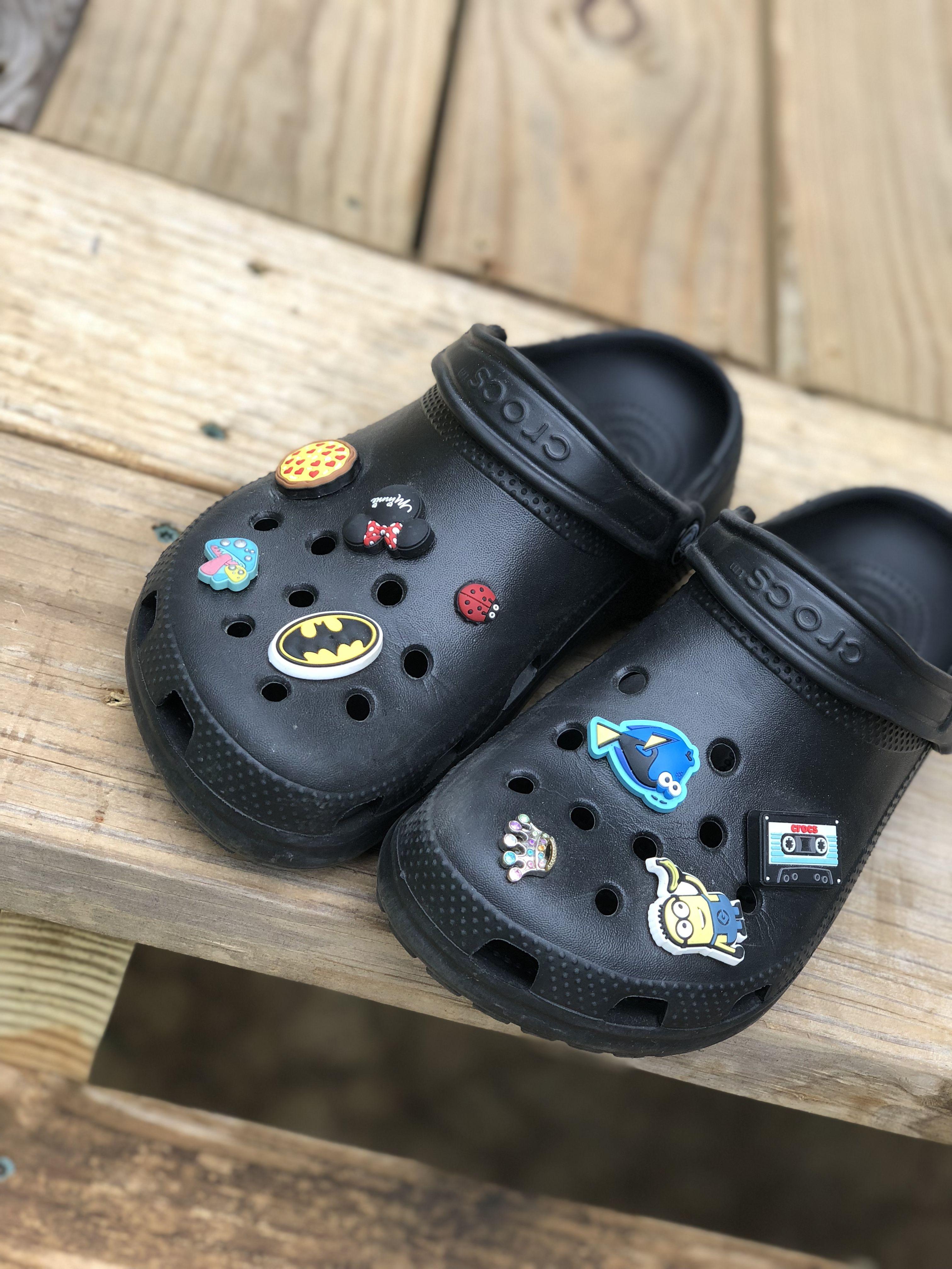 Black crocs | Crocs shoes, Crocs