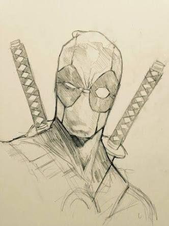 resultado de imagen para marvel dibujos a lapiz deadpool