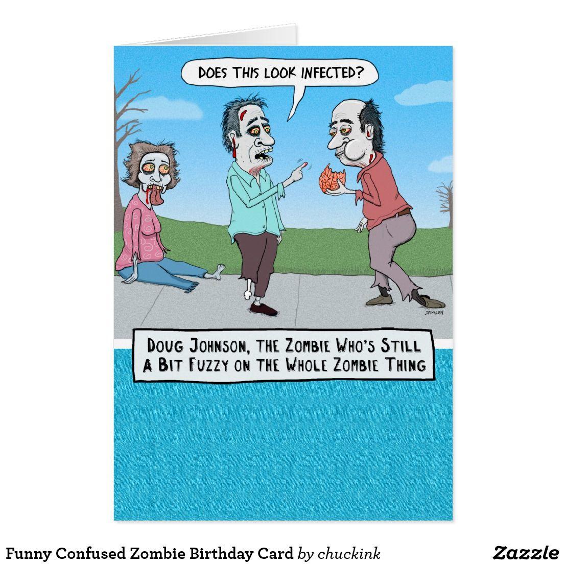 Funny confused zombie birthday card birthdays funny confused zombie birthday card kristyandbryce Choice Image