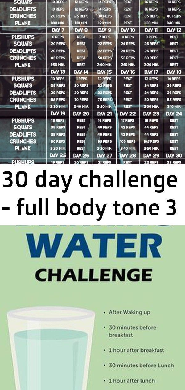 #Body #Challenge #Day #full #Tone Are you looking for a new fitness challenge? T...,  #30daywater #B...