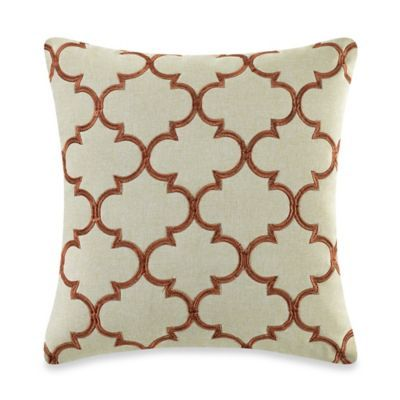 Buy MYOP Club Embroidery Square Throw Pillow Cover In Rust From Bed Mesmerizing Rust Decorative Pillows