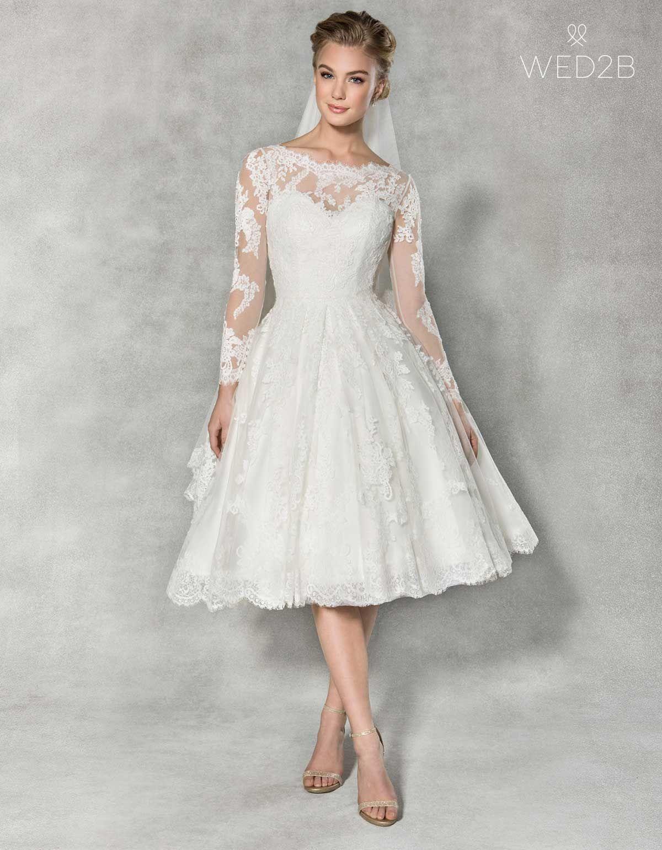 Knee,length wedding dresses for a fairytale wedding