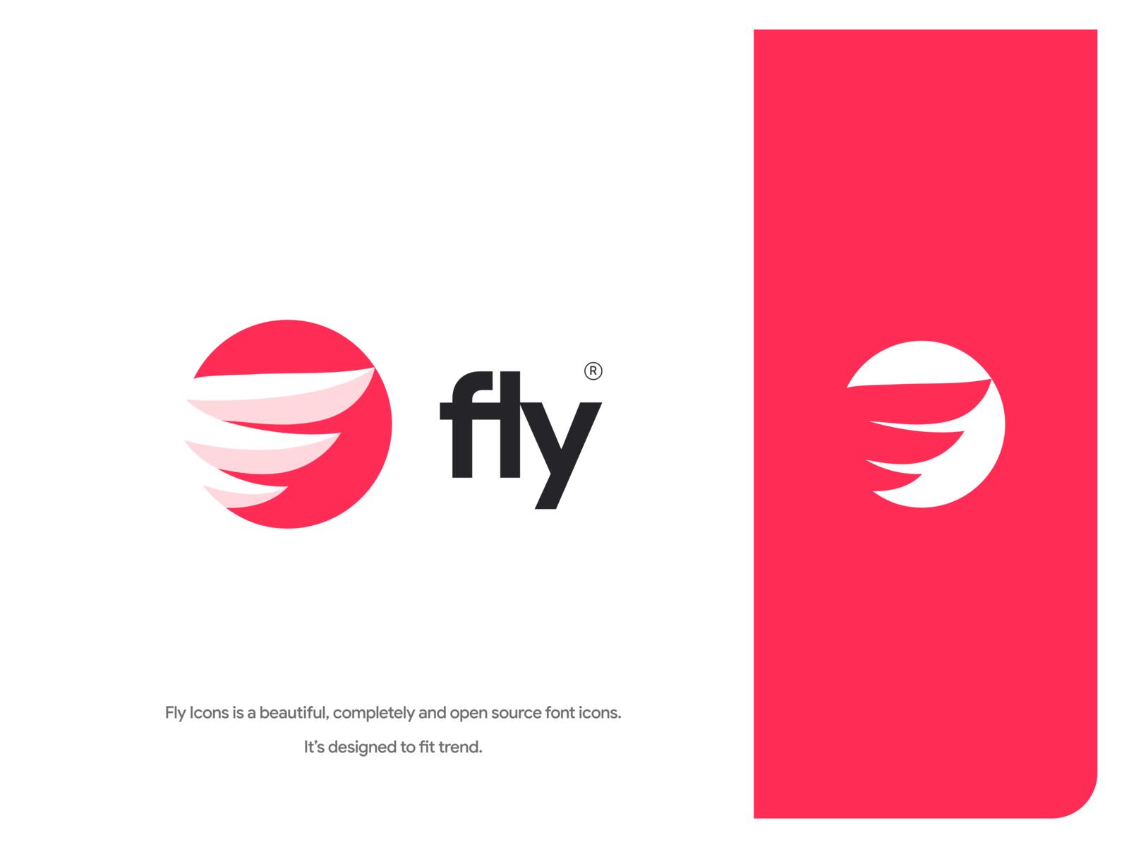 Fly Icons Logo Graphic Design Logo Logo Design Presentation Fly Logo