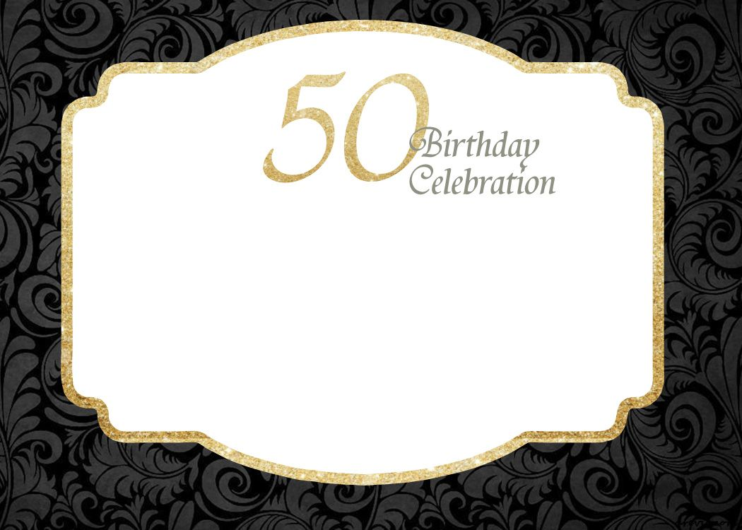 Awesome FREE Printable 50th Birthday Invitations Template