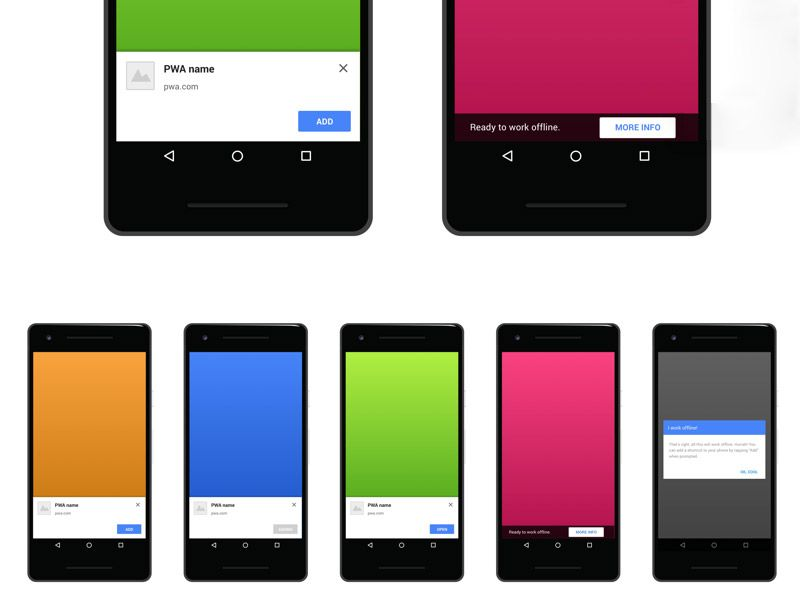 Progressive Web App Onboarding App Free Free Design