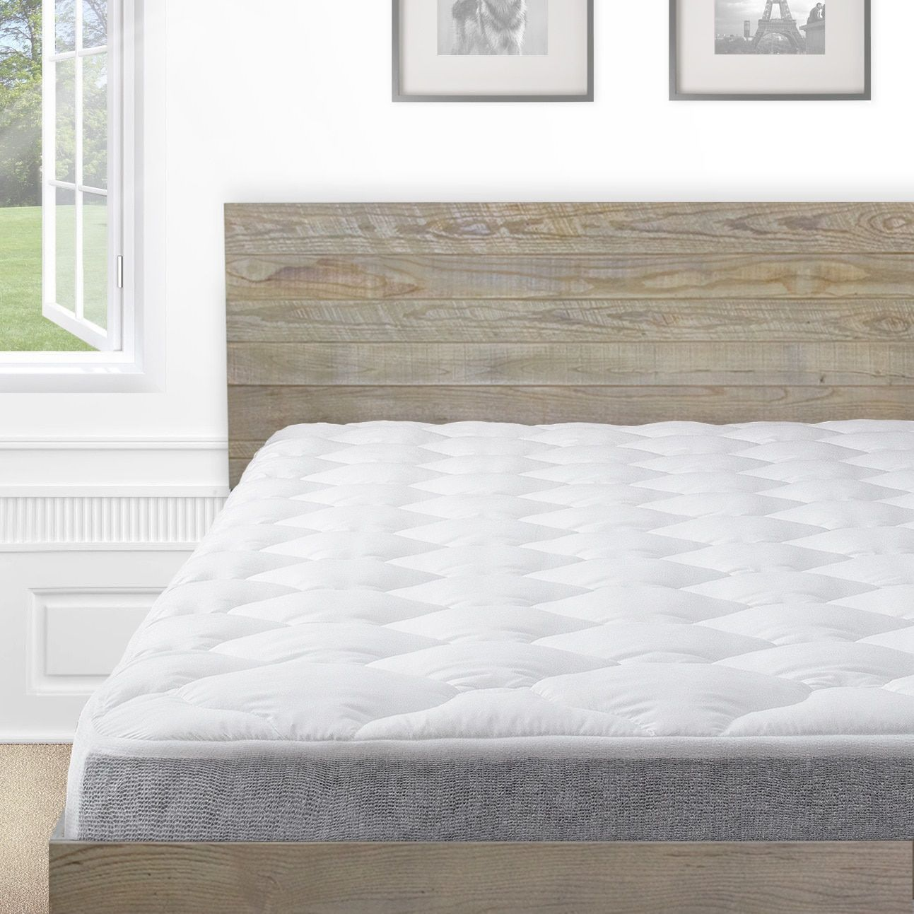 Kotter Home Barnwood Platform Bed Frame And Headboard Bed Frame Headboard Industrial