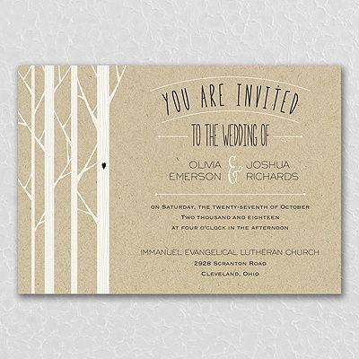Woodsy Celebration Invitation Wedding Invitations Wedding