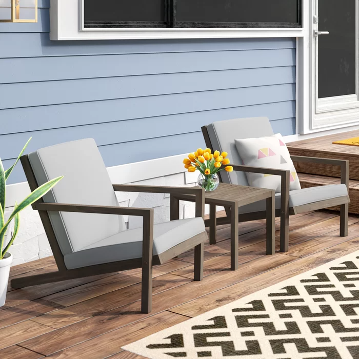 Mercury Row Dehn 3 Piece Seating Group with Cushions & Reviews | Wayfair.ca