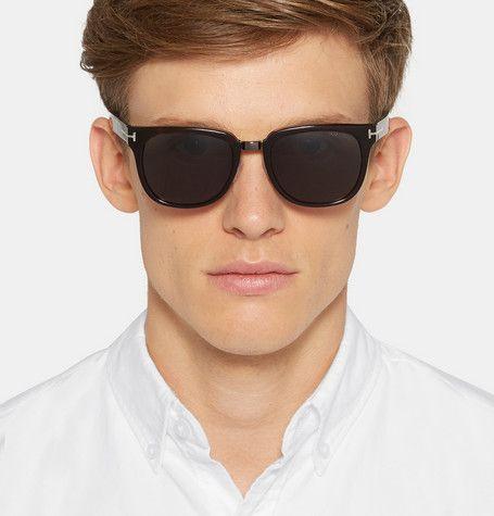 dadd0b4b1d2 Tom Ford Rock D-Frame Tortoiseshell Acetate Sunglasses