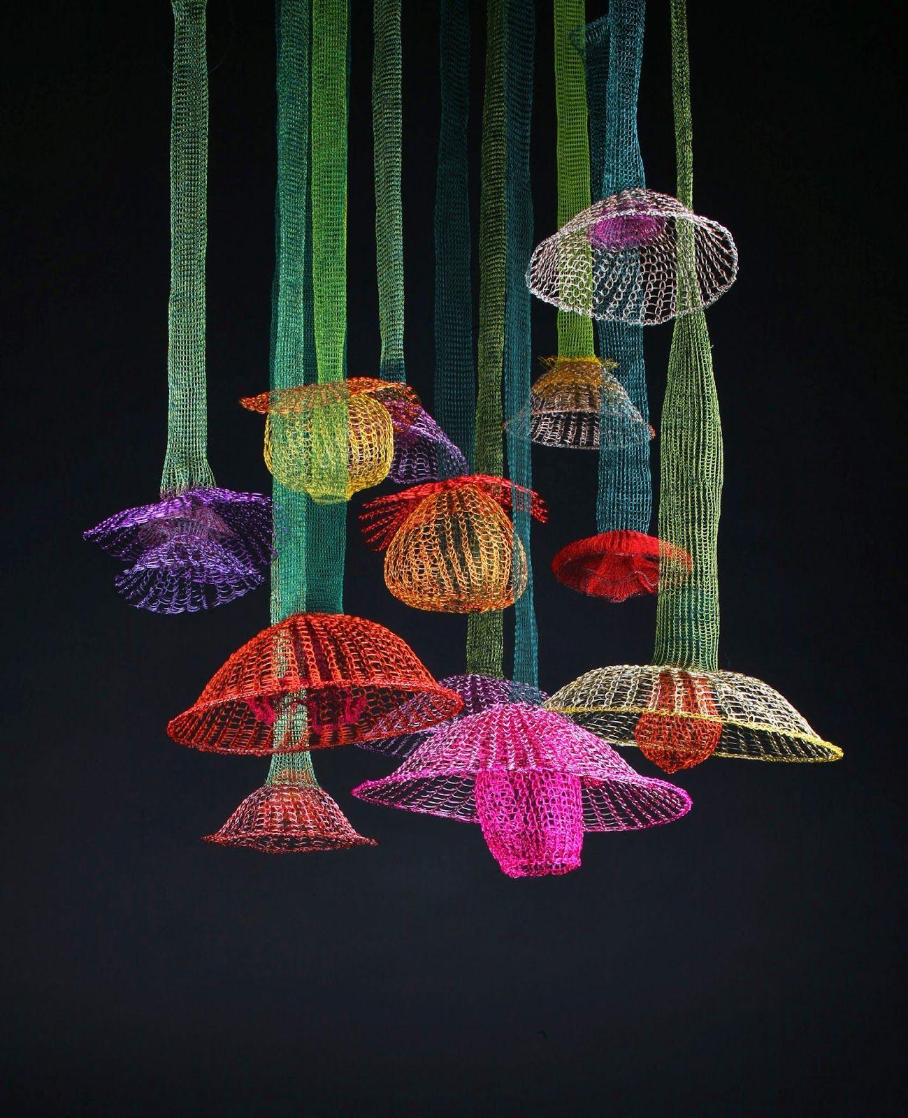 """Hanging Gardens"" by Crochet Artist Arline Fisch @Craftsy"