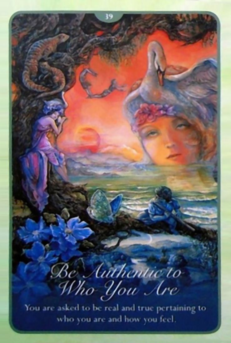 39 Be Authentic To Who You Are Oracle Cards Whispers Of Love Par Josephine Wall And Angela Hartfield Josephine Wall Angel Tarot Cards Fantasy Paintings